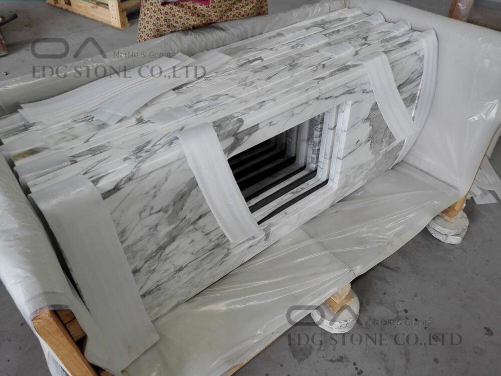 Calacatta Gold White Marble Vanity Tops (11)