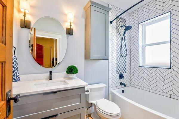 quartz countertop bathroom