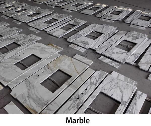 Marble stone vanity tops