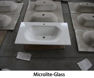 Microlite-Glass vanity tops