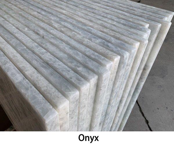 Onyx stone vanity tops