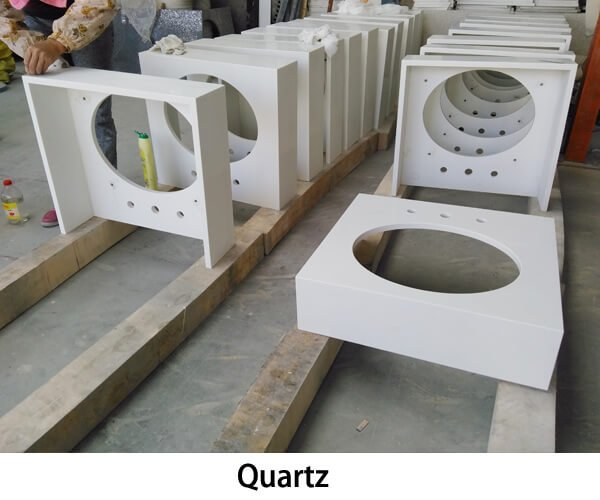 Quartz stone vanity tops