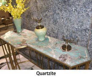 Quartzite stone vanity tops