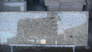 giallo ornamental granite with backsplash
