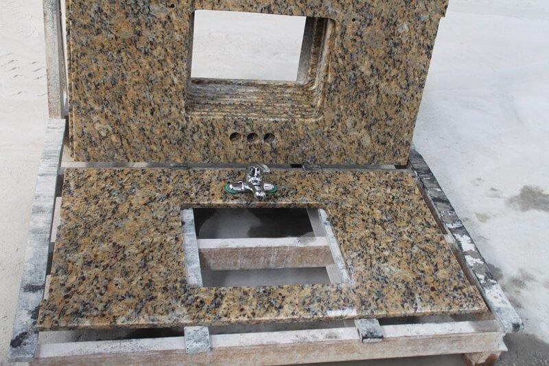 santa cecilia granite vanity top