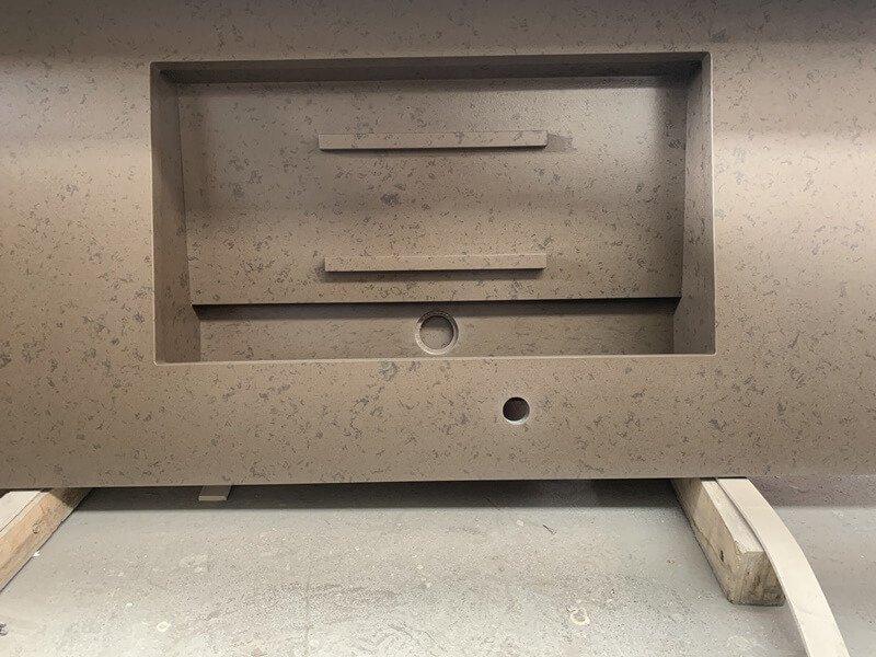 brown quartz countertops