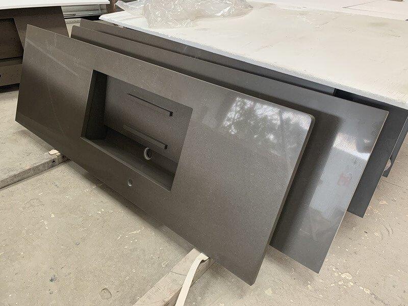 dark brown quartz countertops