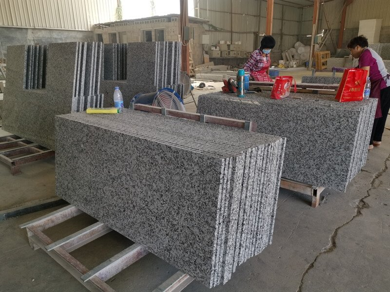 gray granite countertops