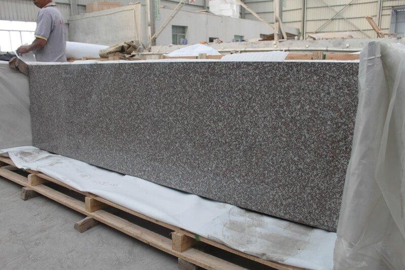 red granite countertops