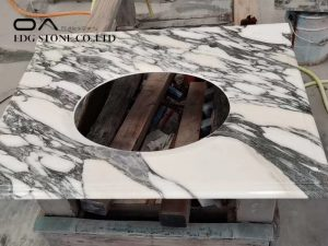 black and white marble countertops