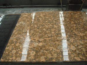 giallo ornamental granite slab