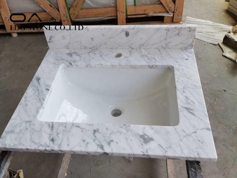 white marble laminate countertop
