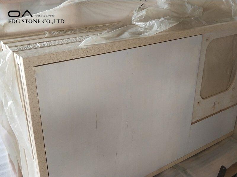 beige quartz kitchen countertops
