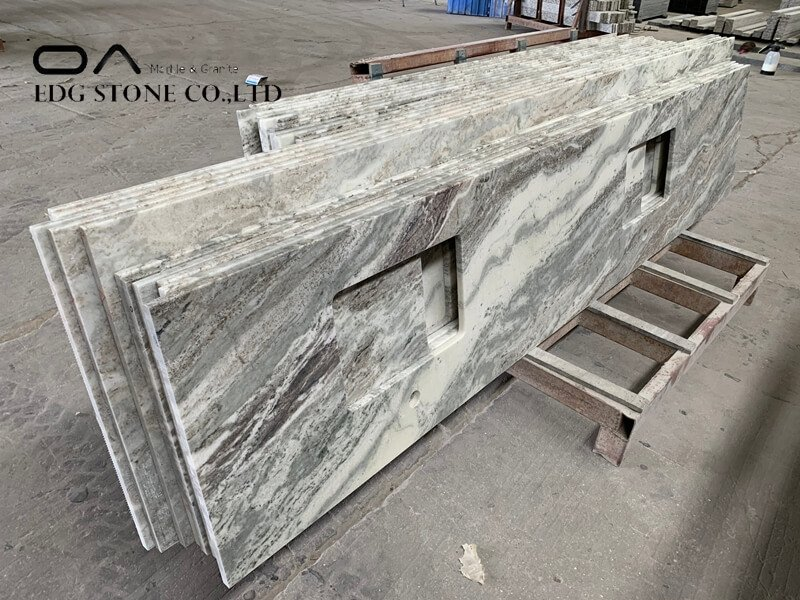 grey kitchen marble worktop