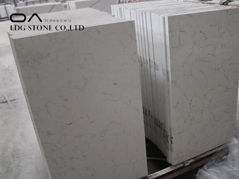 iced white quartz countertops