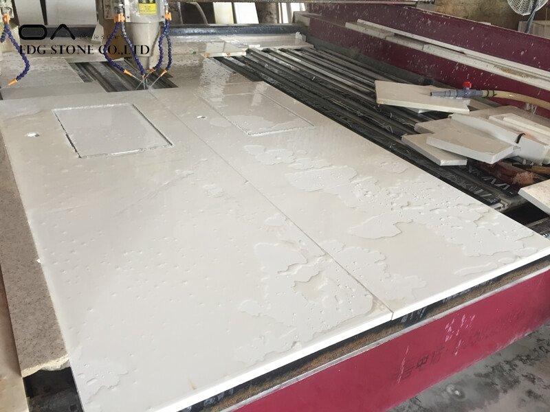 white and grey quartz countertops