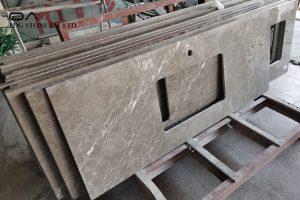 brown marble countertops