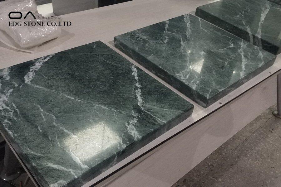 dark green marble countertops