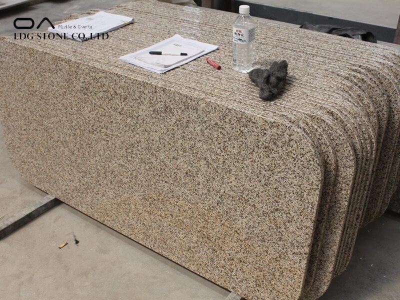 granite countertop yellow stain