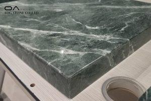 green marble worktop