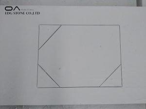 quartz tile countertop