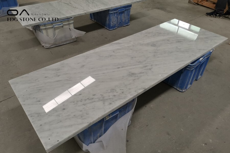 carrara marble vanity top 60