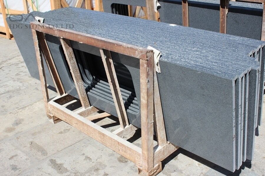 granite countertop grey