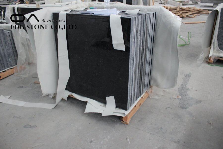 honed black granite