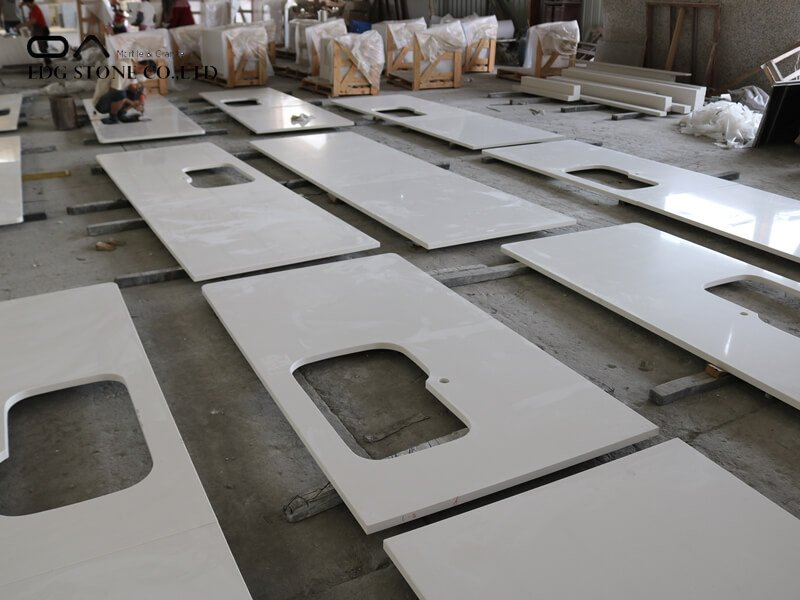 quartz countertops with backsplash