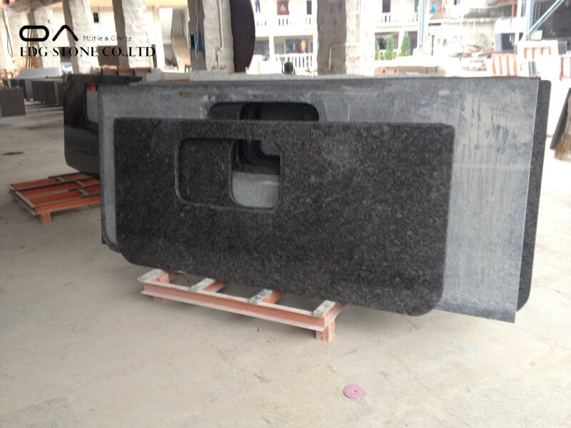 steel grey granite countertop