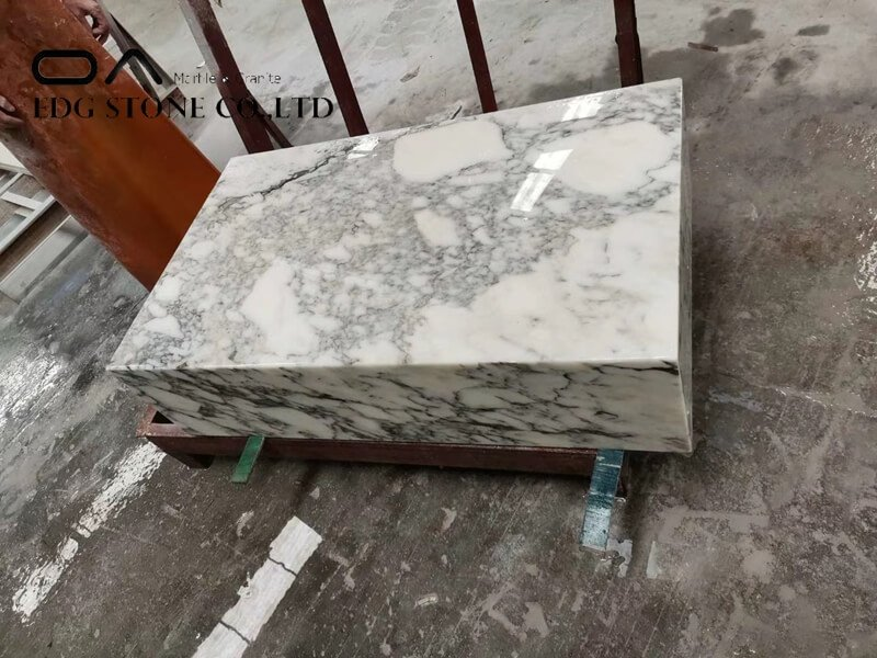 grey and white marble kitchen