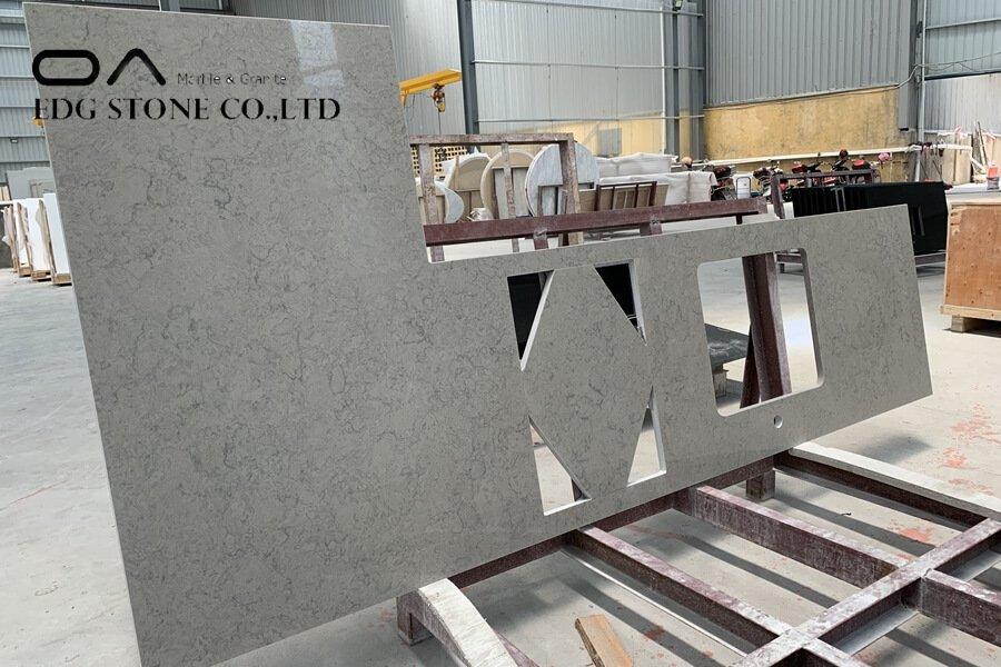 quartz countertops not shiny