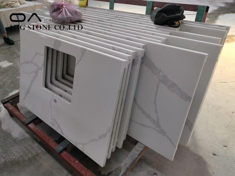 all white quartz countertops