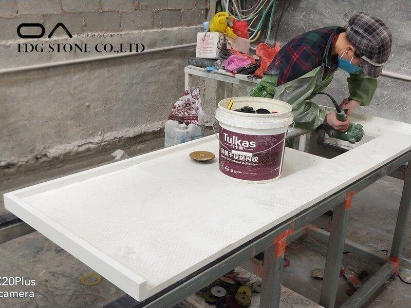 backsplash for white quartz countertops