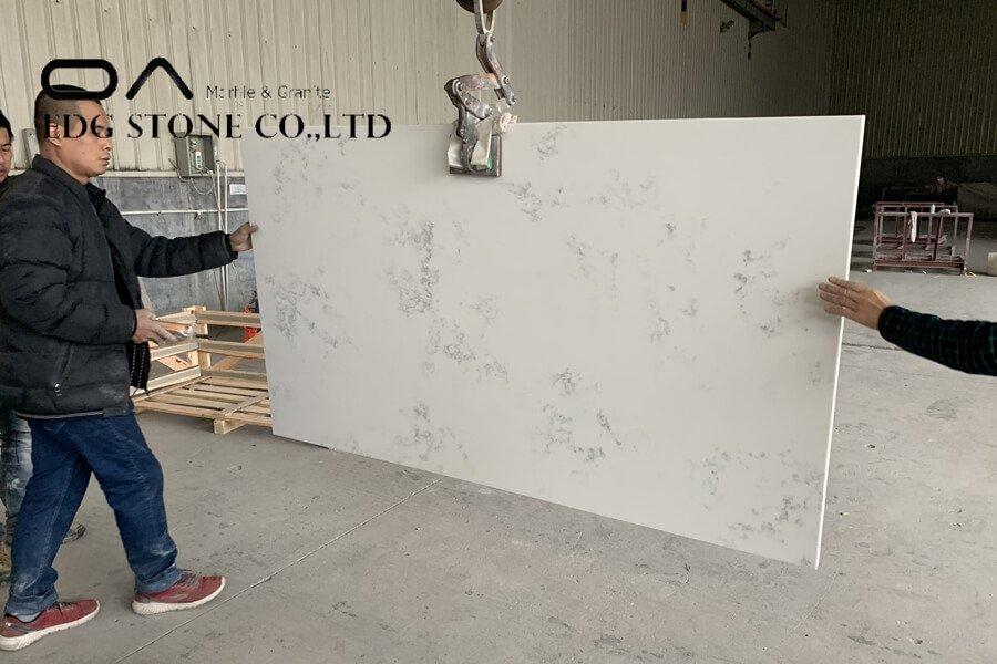 white speckled quartz countertops