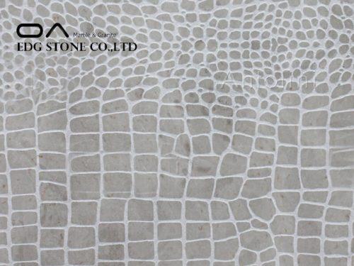 Crema Champagne Limestone Croco Design Honed