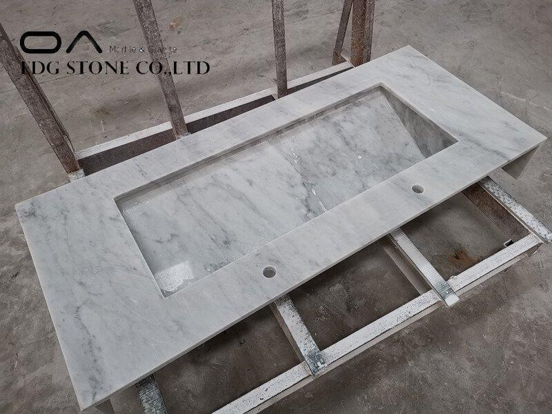 white carrara laminate countertop