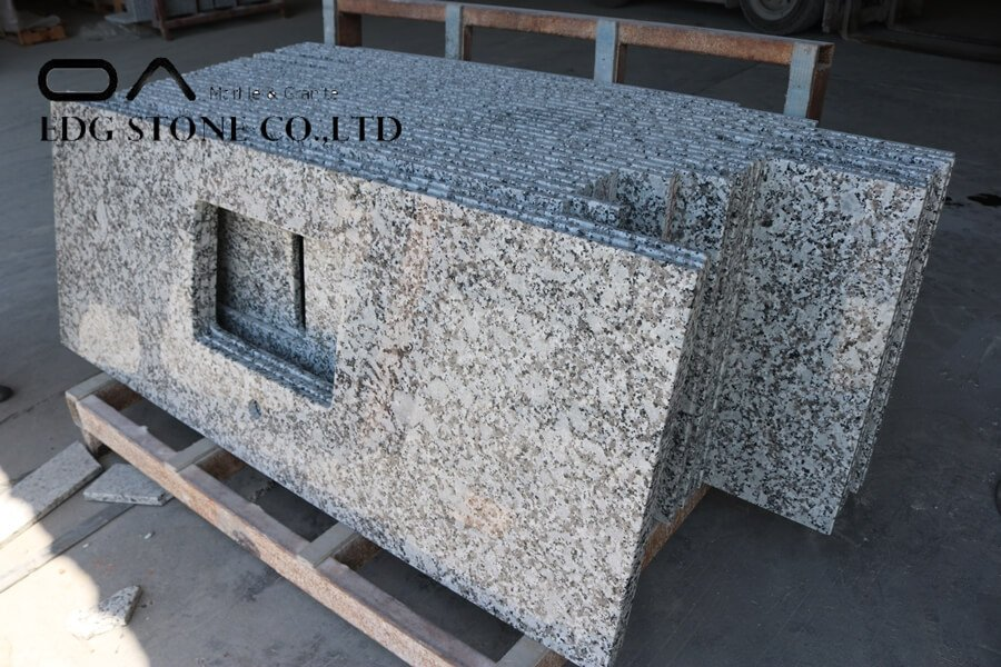 cutting granite countertops in place