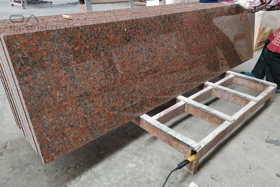 pink granite countertops