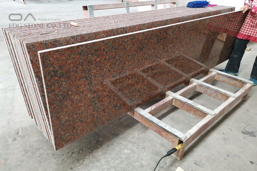 red granite kitchen countertops