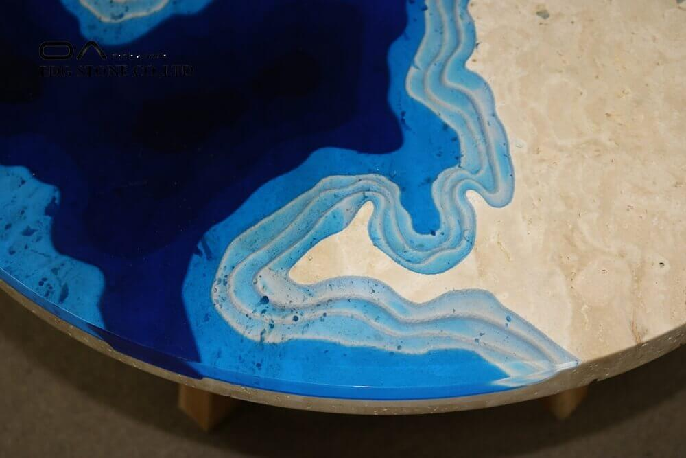 travertine top coffee table