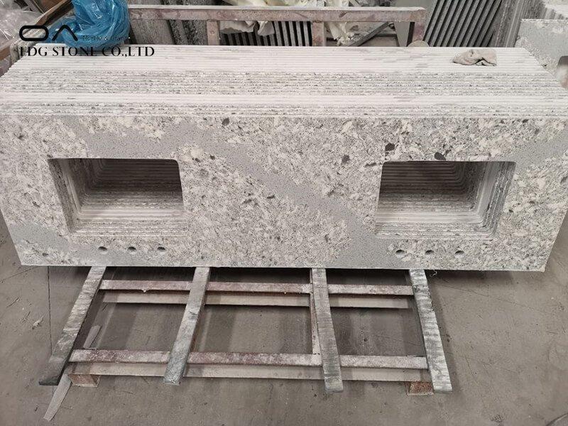 white sparkle granite countertops